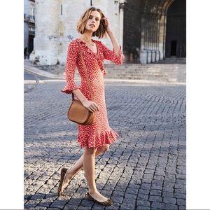 BODEN Michaela Jersey Dress - Rosehip Daisy Ditsy